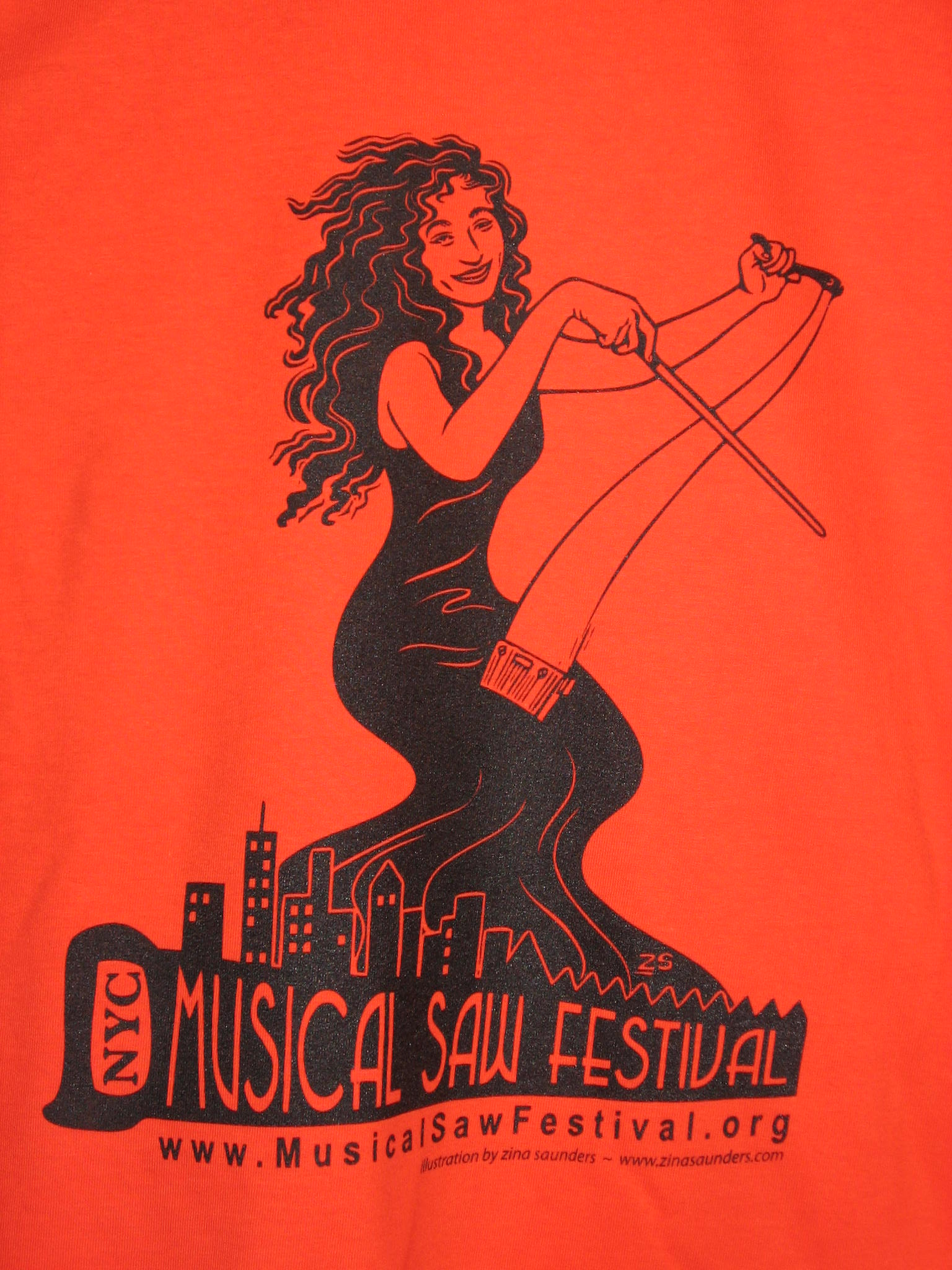 Orange Musical Saw Festival t-shirt