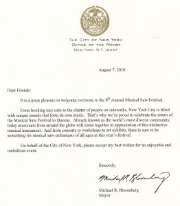 Mayor Bloomberg's proclamation